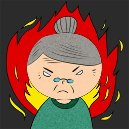 Animated ANGRy Old LADy Stickers