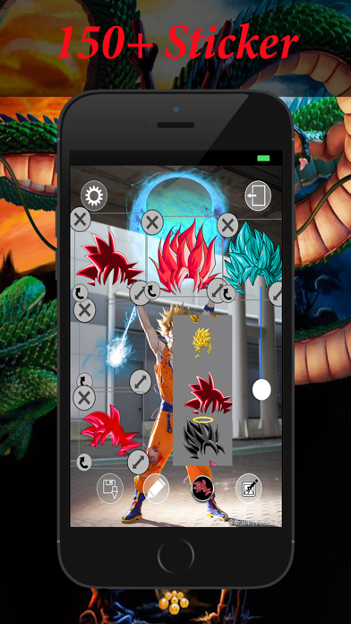 Editor de fotos para Dragon Ball Z: pelo de diosCaptura de pantalla de2