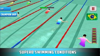 点击游泳比赛3D:潜水比赛与游泳者 App 截图