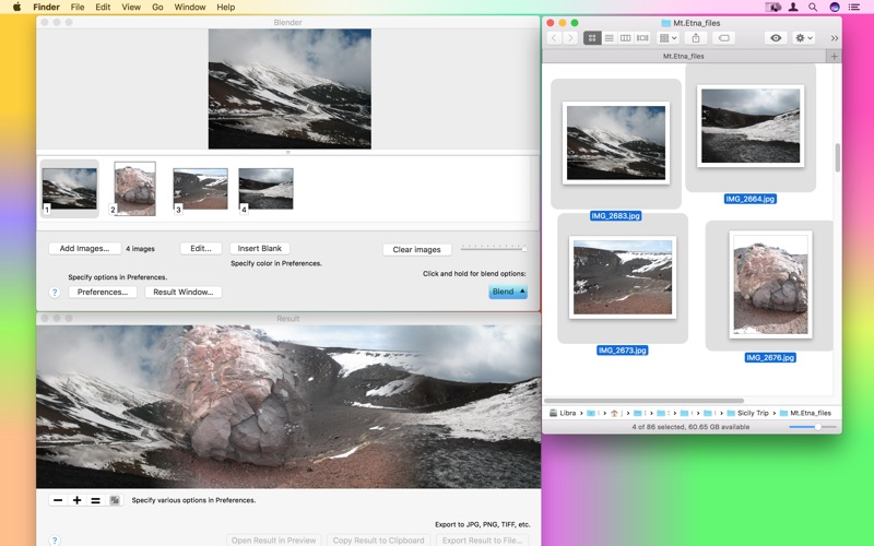 PhotosBlender Screenshot