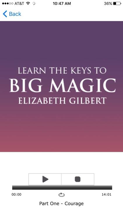 Big Magic - Elizabeth Gilbert Meditation Audiobook screenshot-3