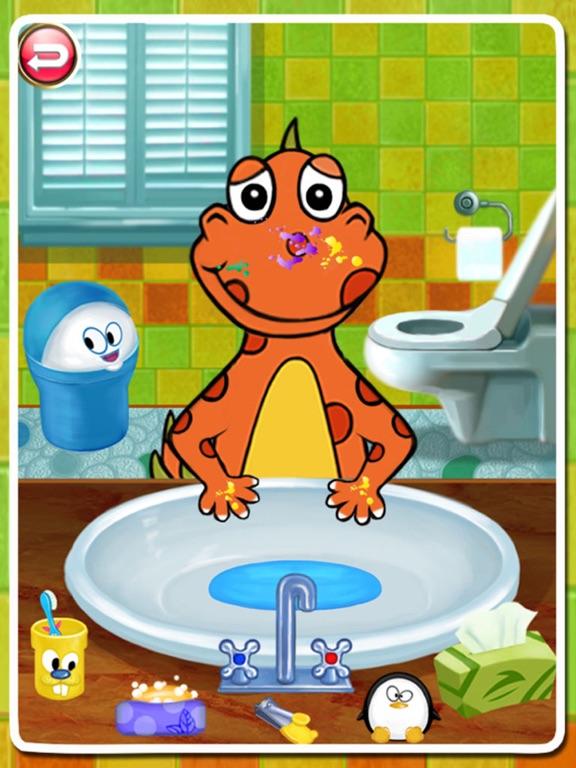 Dino Bath & Dress Up- Potty training app for kids-ipad-2