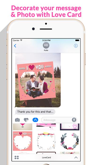 Love Card - Beautiful Lovely Card Stickers screenshot 3