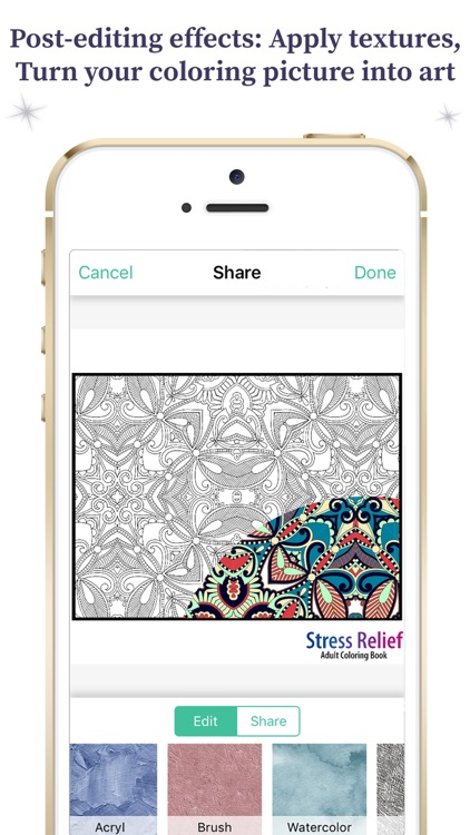 Coloring Book For Adults - Paisleys Edition screenshot-4