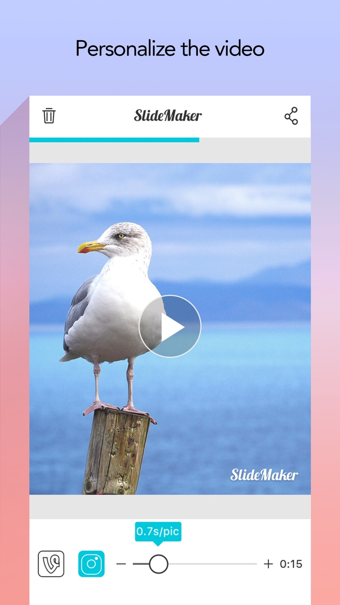 Slide Maker - Add Music to Photos & Make Slideshow Screenshot