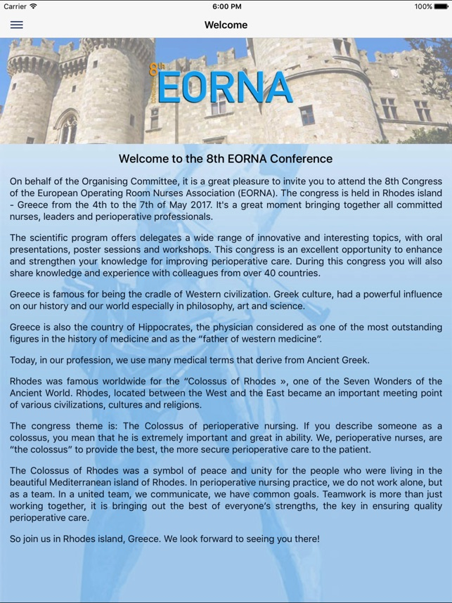 Eorna 2017 Conference On The App Store