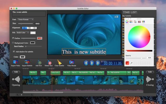 Subtitle Edit Pro-Video Editor