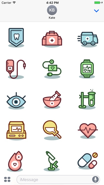 Medical Sticker Pack for Messaging
