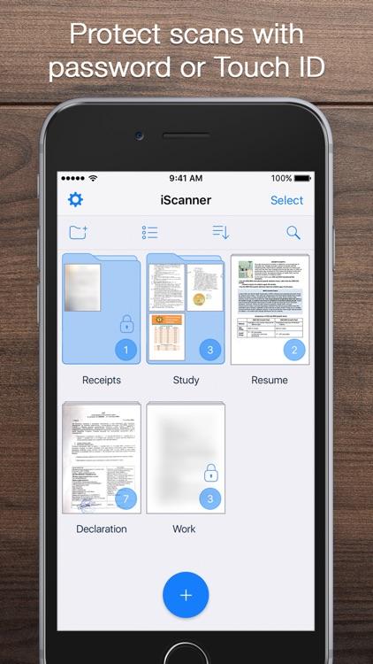 iScanner - PDF Document Scanner App screenshot-4