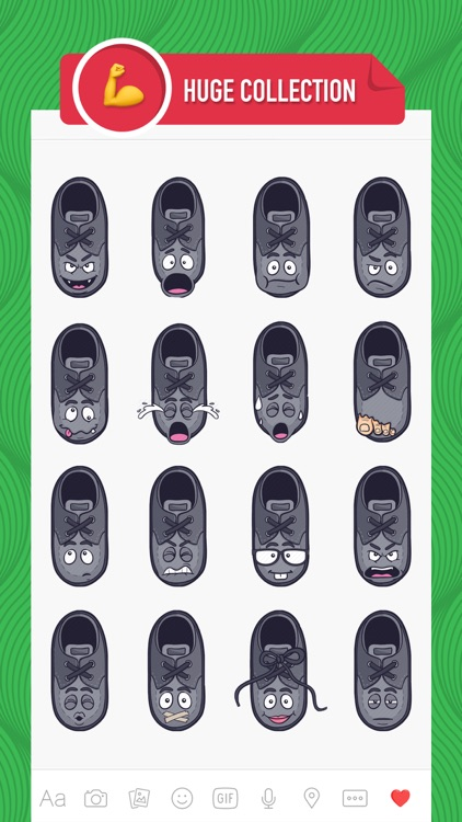 ShoeMoji - shoe emojis & stickers keyboard app screenshot-1