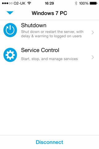 Screenshot of ServerControl by Stratospherix