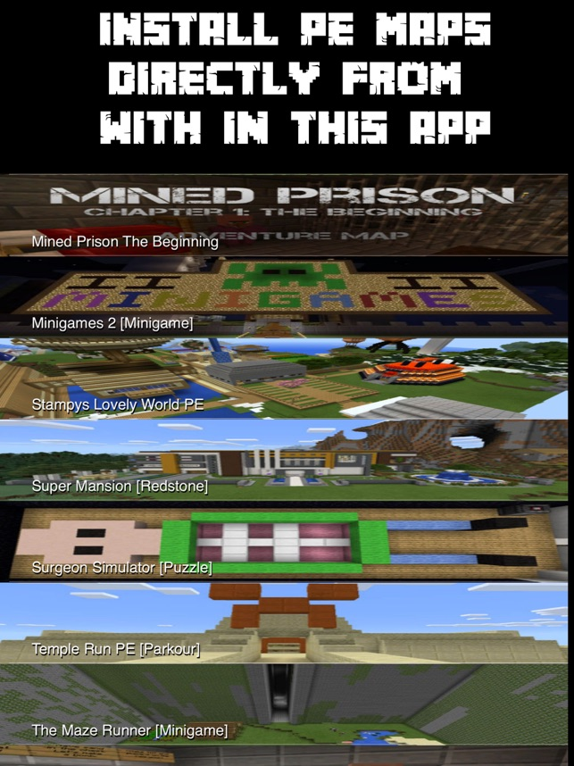 Best Maps for Minecraft PE - One Touch Install on the App Store
