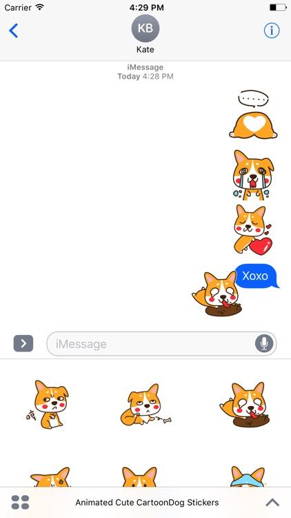 Cute Cartoon-Dog Stickers For iMessage screenshot-4