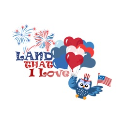4th of july American holiday stickers for iMessage