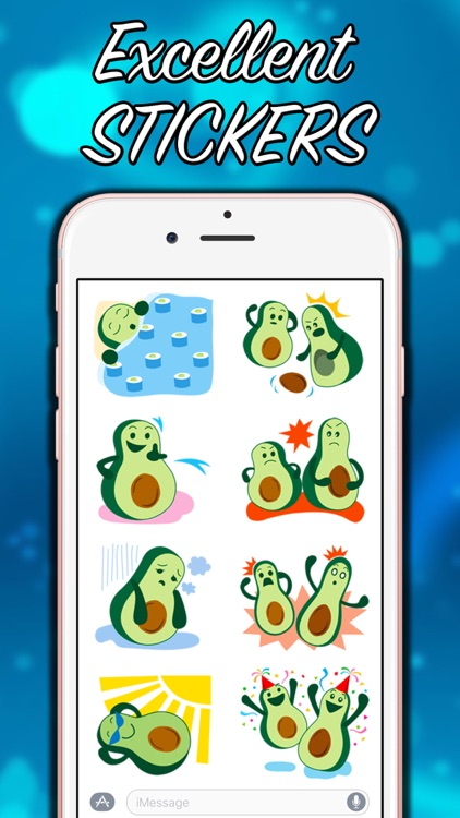 Avocado Party > Cool Stickers! screenshot-4