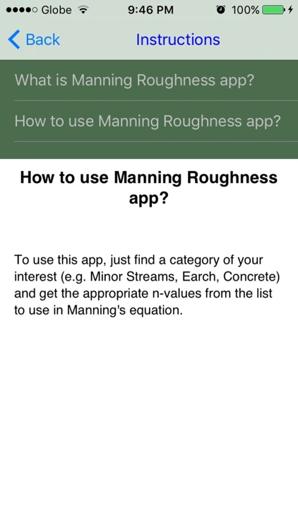 Manning's Roughness