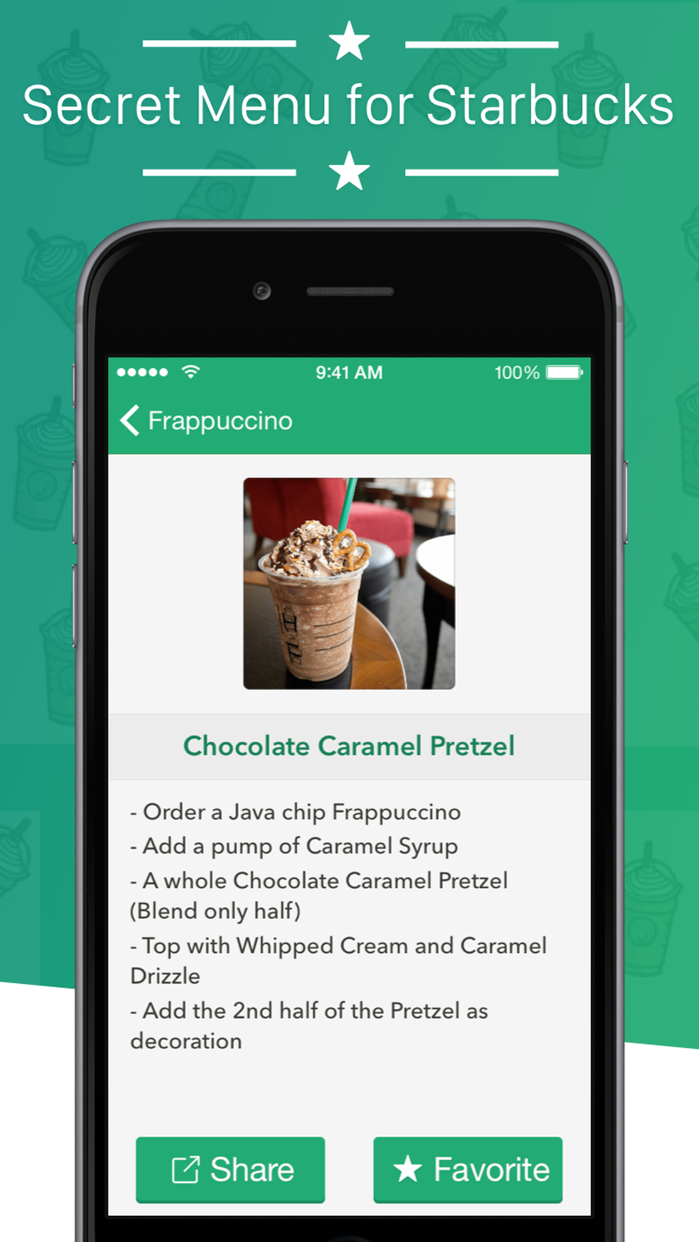 Secret Menu for Starbucks + Screenshot