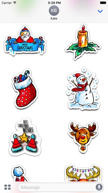 Watercolor Christmas Stickers Vol. 5 screenshot-3