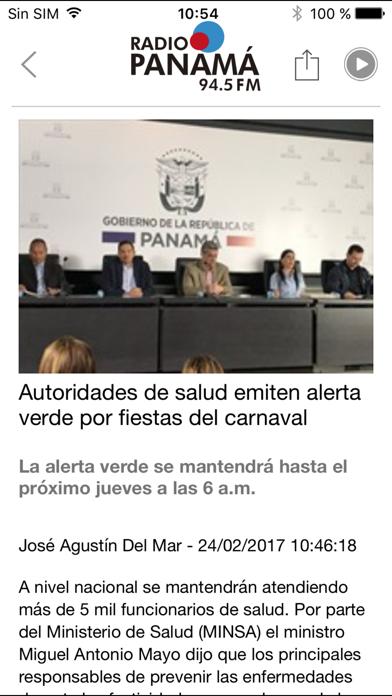 Radio Panamá para iPhone screenshot four
