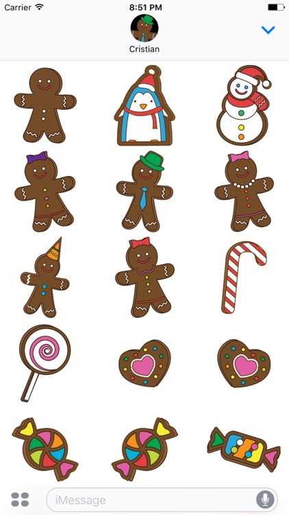 Gingerbreads with friends - stickers for iMessage