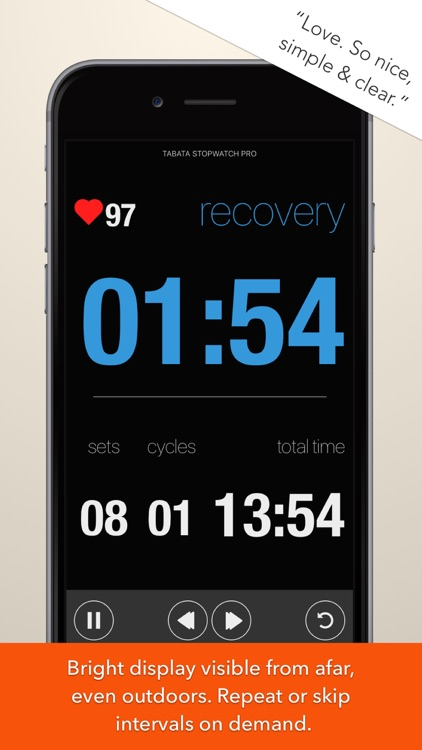 Tabata Stopwatch Pro - Tabata Timer and HIIT Timer screenshot-1