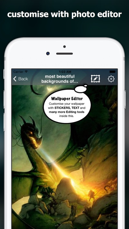 dragon wallpapers & wallpaper editor with stickers