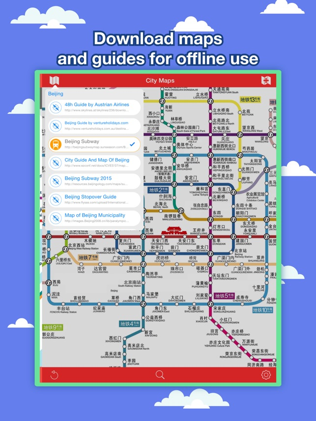 Beijing Subway Map 2015 Pdf.Beijing City Maps Discover Bjs With Mtr Guides On The App Store