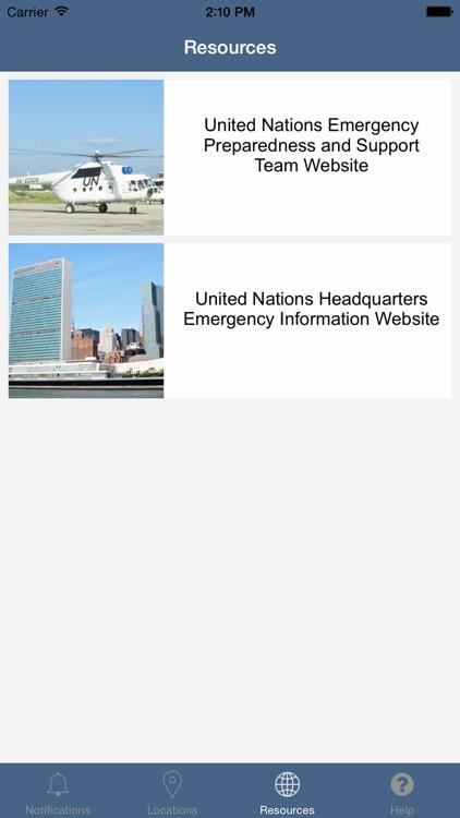 UN Emergency Notifications screenshot-3