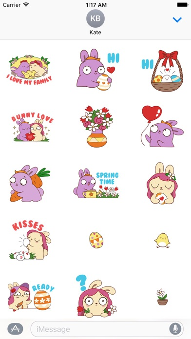 Love of Bunnies in Easter Sticker screenshot 1
