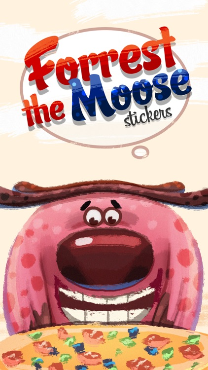Forrest the Moose Stickers