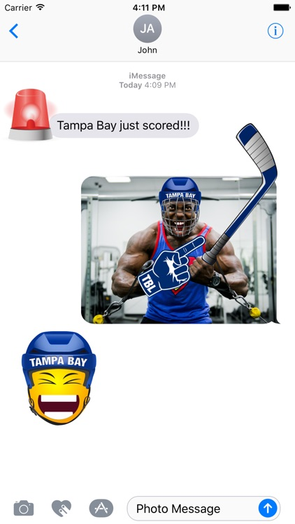 Tampa Bay Hockey Stickers & Emojis screenshot-1