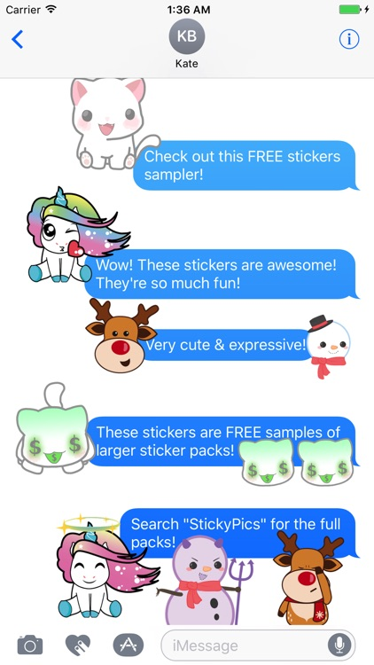 StickyPics Sticker Sampler