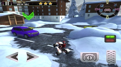 ATV Quad Bike Snow Parking Simulator 2017 screenshot 4