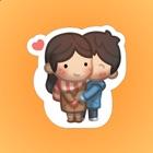 Ragazza Lolo con il Fidanzato Adesivi icon