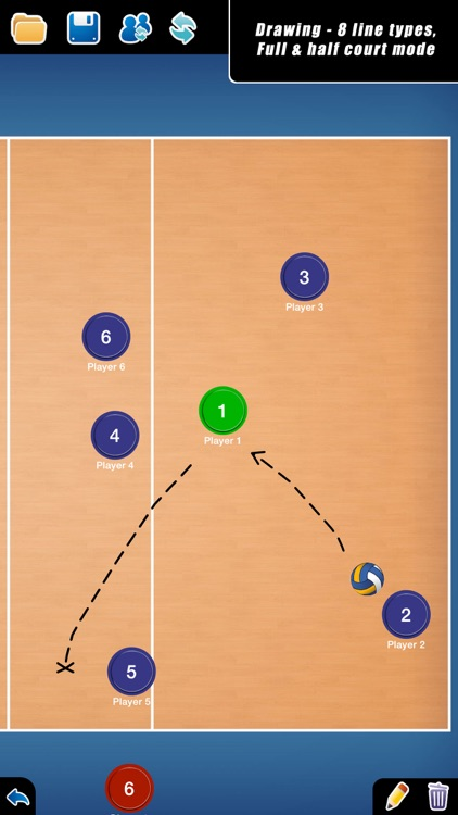 Coach Tactical Board for Volleyball