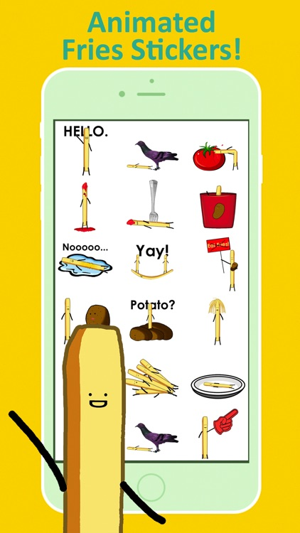 Fries Animated Stickers