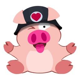 Tiny Pig Animated Emoji Stickers