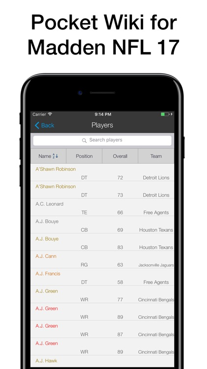 Pocket Wiki for Madden NFL 17