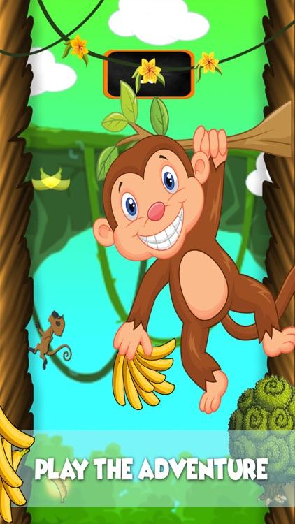 Monkey Runner : crazy run  in jungle for banana screenshot-4