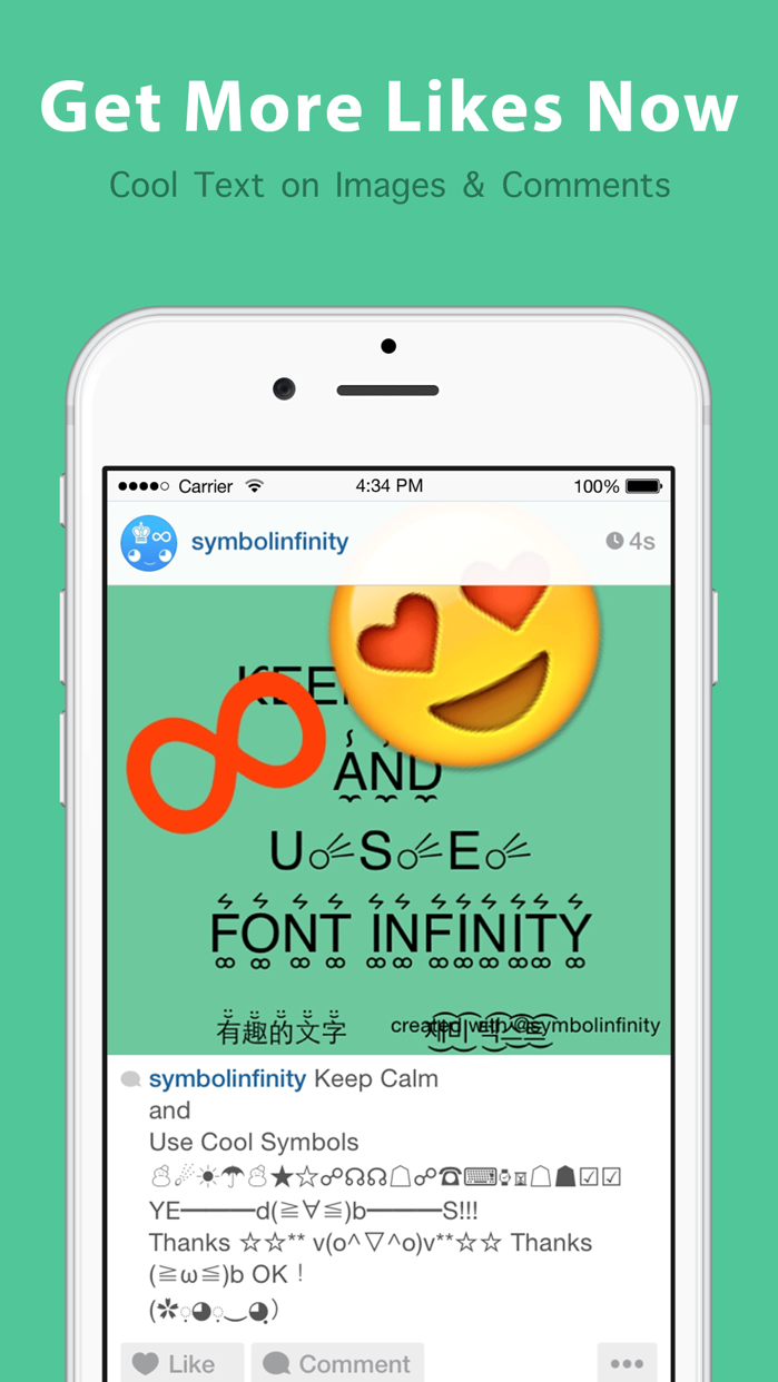 Symbol infinity pro symbolscool fonts kaomoji app store symbol infinity pro symbolscool fonts kaomoji app store revenue download estimates us biocorpaavc Image collections