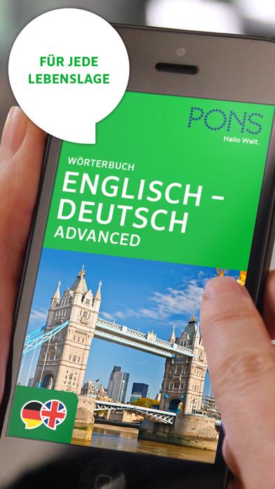 Wörterbuch Englisch - Deutsch ADVANCED von PONSのおすすめ画像1