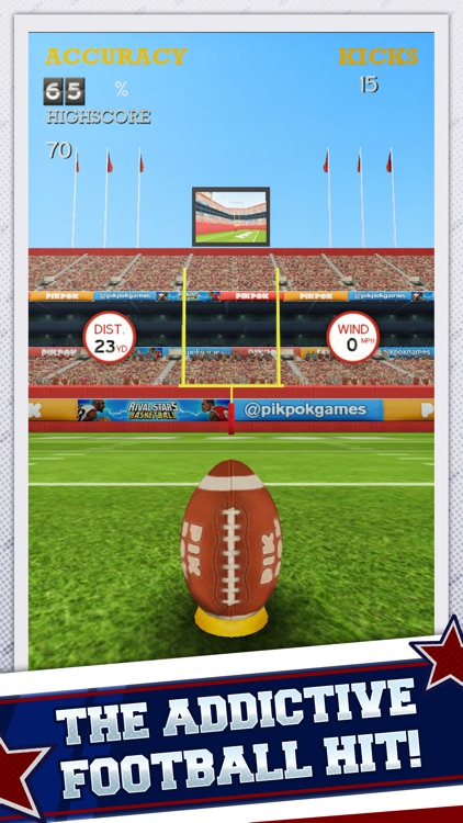 Flick Kick Field Goal Kickoff screenshot-0