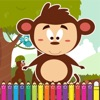 Monkey Coloring Game for Kids Fourth Edition