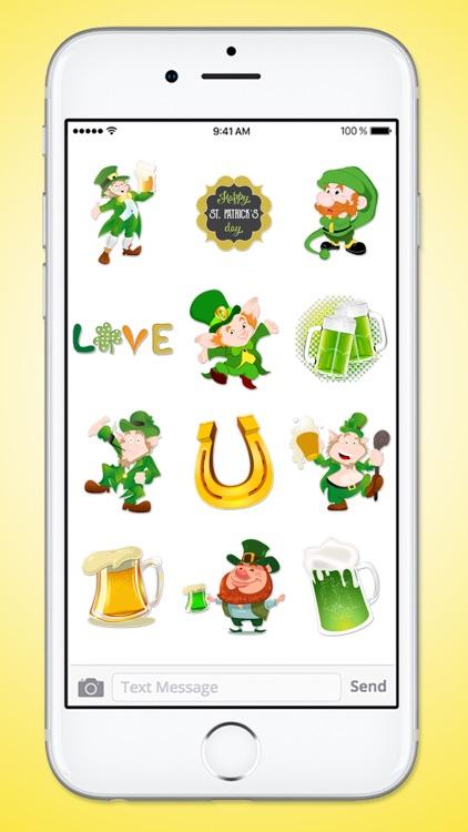 St Patricks Day Leprechaun and Beer Sticker Pack screenshot-3