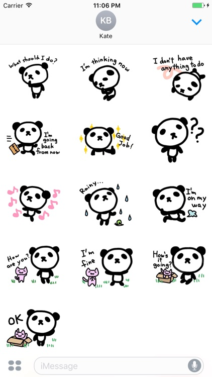 Eddie the cute panda in daily life stickers