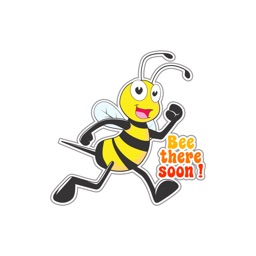 Funky Bee stickers by NestedApps Stickers