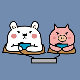 Animated PIg and BEAr Stickers