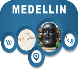 Medellin Colombia Offline City Map Navigation