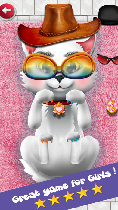 Kitten Salon : kitty games & kids games for girls screenshot one