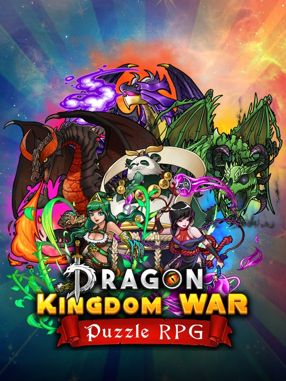 Dragons Kingdom War: Puzzle & Card RPG Game-ipad-4